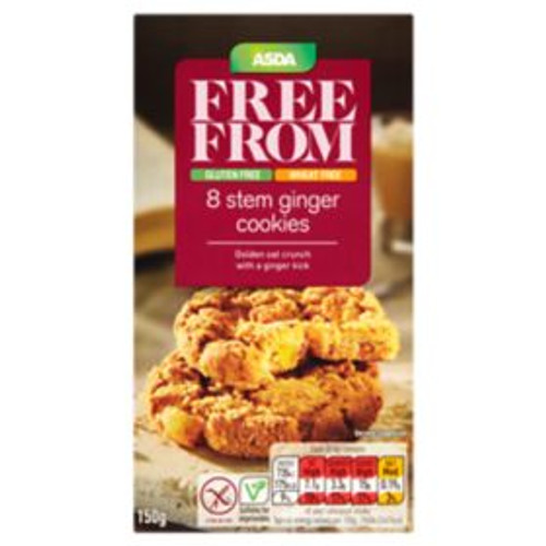 ASDA Free From Stem Ginger Cookies 150g