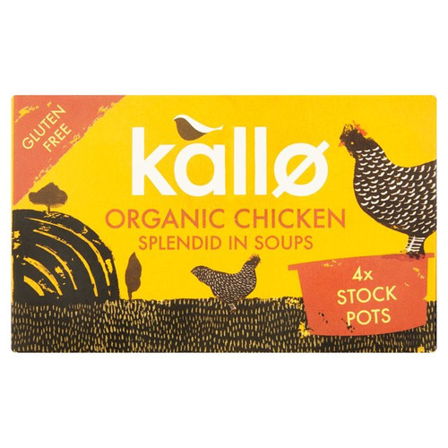 Kallo Organic Chicken Stock Pots 4 x 24g