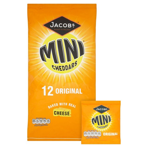 McVities Jacobs Mini Cheddars 12 Pack