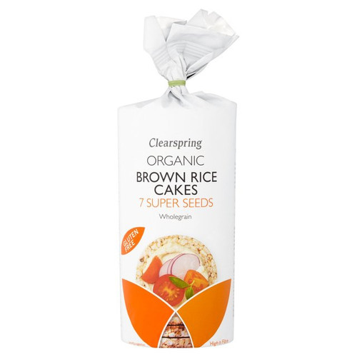 Clearspring Organic Brown Rice Cakes 7 Super Seeds 120g