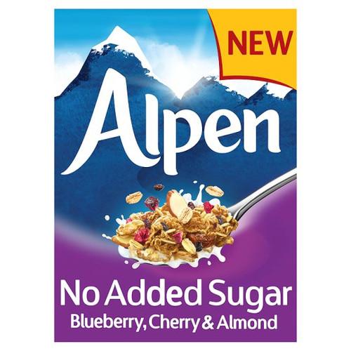 Alpen No Added Sugar Blueberry, Cherry & Almond Muesli 560g