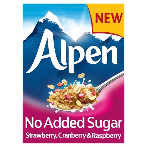 Alpen No Added Sugar Strawberry, Cranberry & Raspberry Muesli 560g