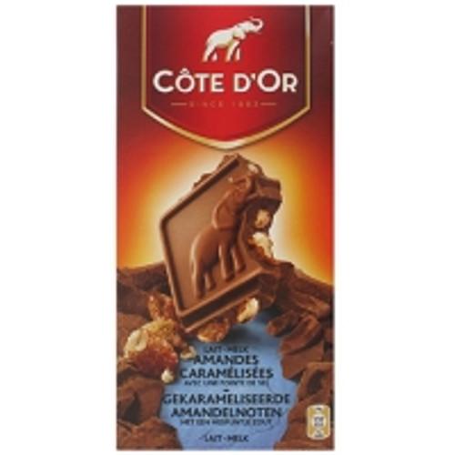 Cote D'Or Chocolat au Lait Amandes Caramelisees et Pointe de Sel 180g