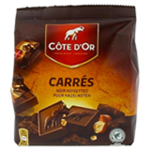 Cote D'Or Carres De Chocolat Noir Et Noisette x10 (Sachet) 200g
