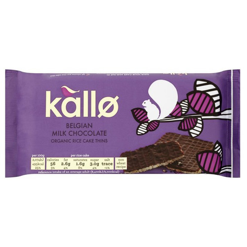 Kallo Organic Milk Chocolate Rice Cakes 90g