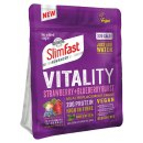 SlimFast Vitality Strawberry + Blueberry Burst Vegan Meal Replacement 450g