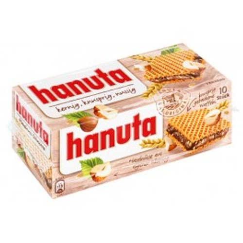 Hanuta - Cocoa cream & roasted hazelnuts in wafer 220g