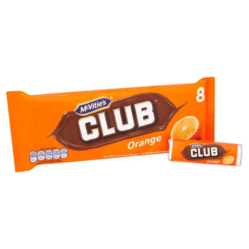 McVities Club Biscuits Orange 8 Pack