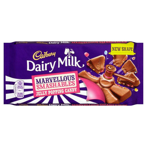 Cadbury Dairy Milk Marvellous Creations- Jelly Popping Candy Shells 180g