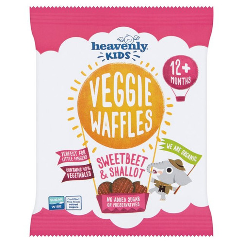 Heavenly Kids Veggie Waffles Sweetbeet & Shallot 12+ Months 10g
