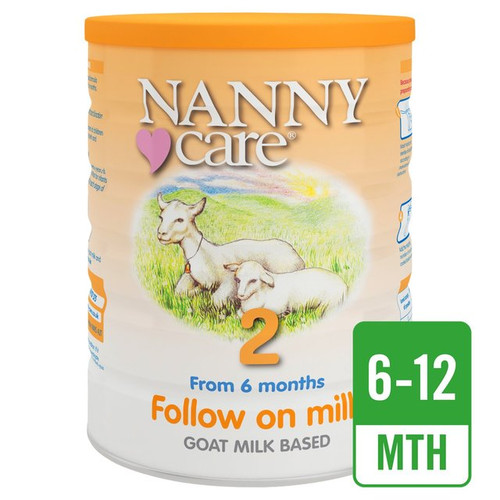 Nanny Care 2 Follow On Milk  From 6 Months Goat Based Milk  900g