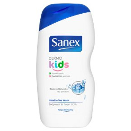 Sanex Dermo Kids Body Wash & Foam Bath 500ml