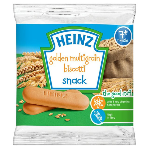 Heinz 7 Mths + Golden Multigrain Biscotti Biscuits 60g