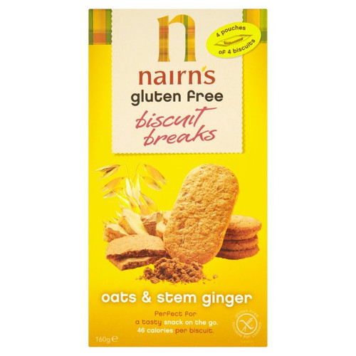 Nairns Gluten Free Stem Ginger and Oatmeal Cookies 5.64 ounce