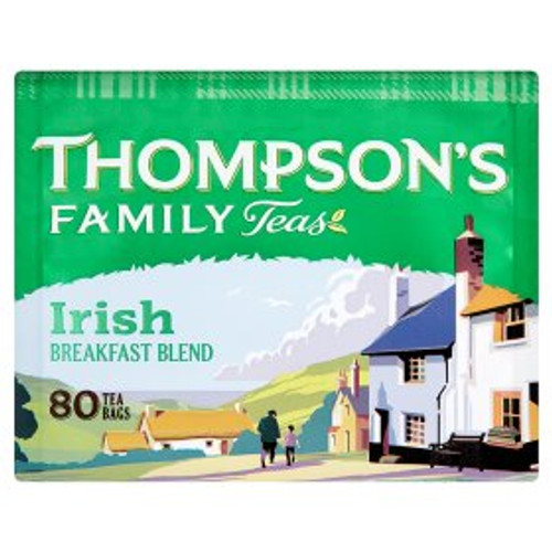 Thompsons Punjana Irish Breakfast tea 80 Teabags 250g