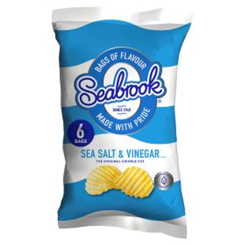 Seabrook Sea Salt & Vinegar 6x25g