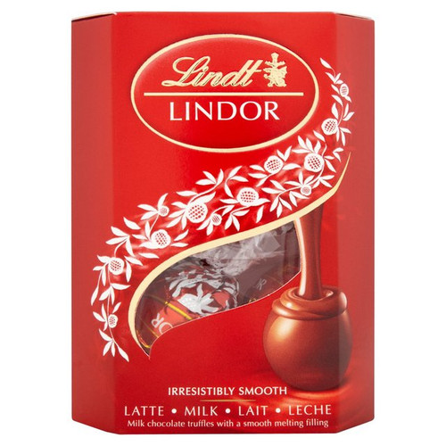 Lindt Lindor Milk Chocolate Cornet Truffles 50g
