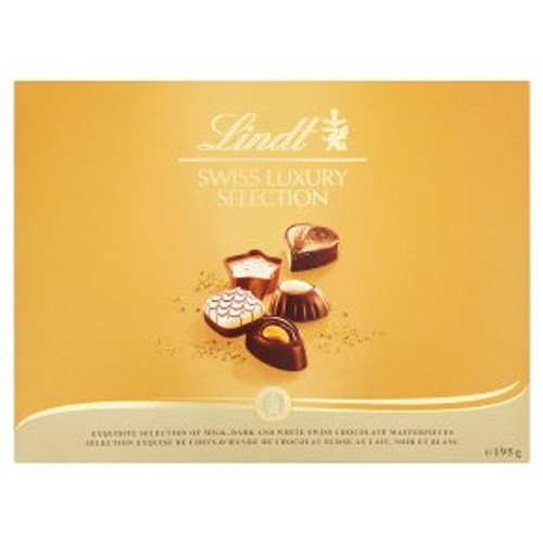 Lindt Swiss Luxury Selection Chocolate Collection 195g