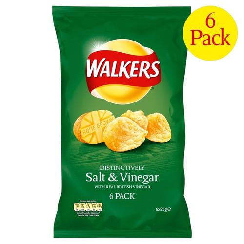Walkers Salt And Vinegar 6x25g