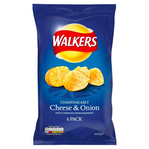 Walkers Cheese And Onion 6 x 25g
