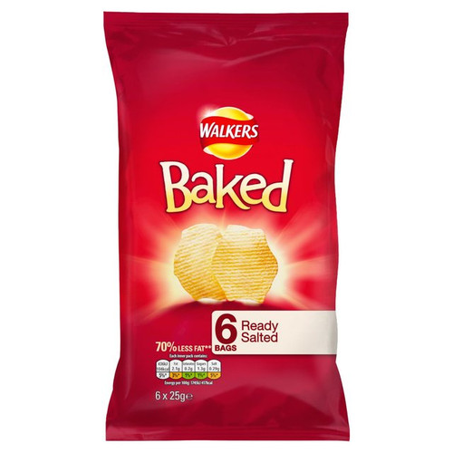 Walkers Baked Crisps Ready Salted 6 Pack