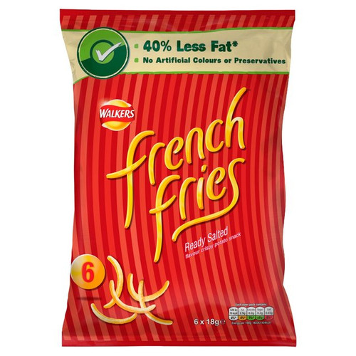 Walkers French Fries Ready Salted 6 x18g