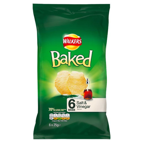 Walkers Baked Crisps Salt And Vinegar