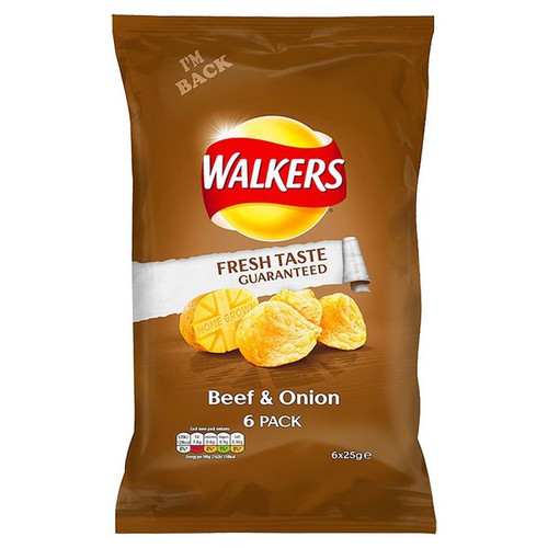 Walkers Beef And Onion 6 x 25g