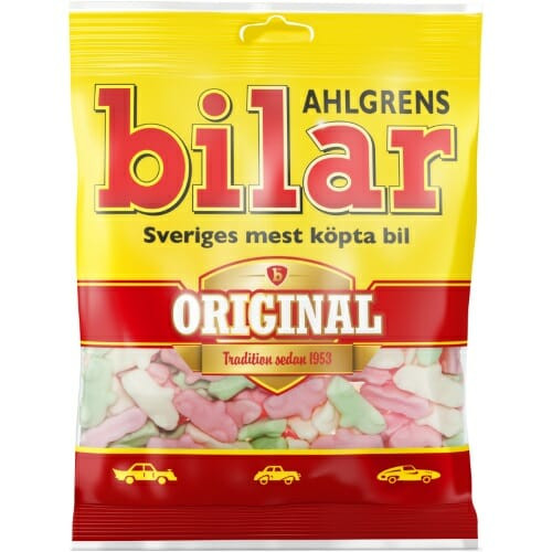 Ahlgrens Bilar Original – Fruity Marshmallow Sweets 125g