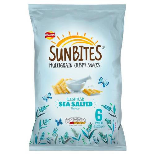 Walkers Sunbites Lightly Sea Salted Snacks 6x25g
