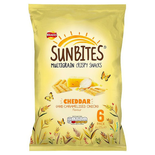 Walkers Sunbites Cheddar & Carmelised Onion Snacks 6x25g