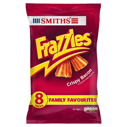 Walkers Frazzles Crispy Bacon Flavour  8 x 18g
