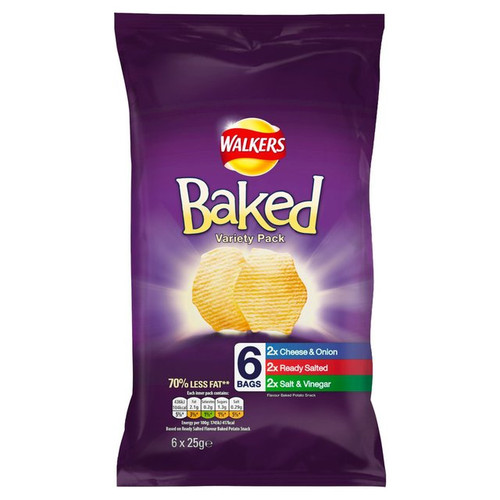 Walkers Baked Variety 6 pack