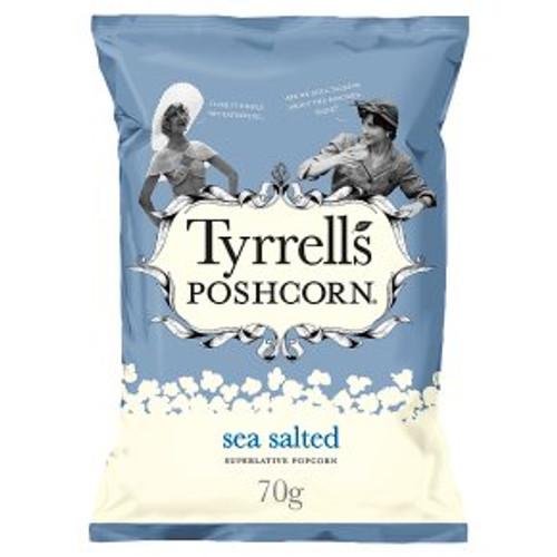 Tyrrells Poshcorn Lightly Sea Salted 70g
