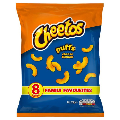 Walkers Cheetos Cheese Puffs Snacks 13g x 8 per pack