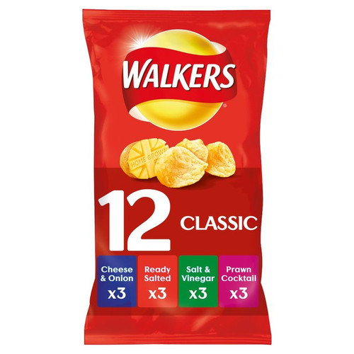 Walkers Classic Variety Crisps 12 Pack