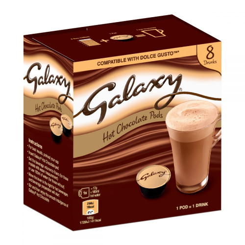 Galaxy 8 Hot Chocolate Pods. Dolce Gusto Compatible 8x17g