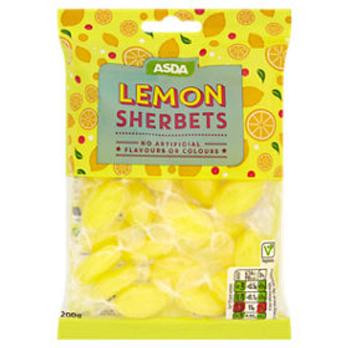 Asda Classic Sherbert Lemons 200g