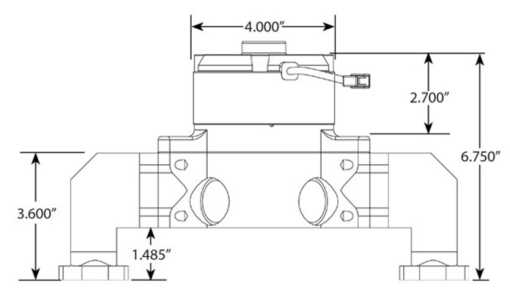 CVR Billet Water Pump SBC 8550 diagram
