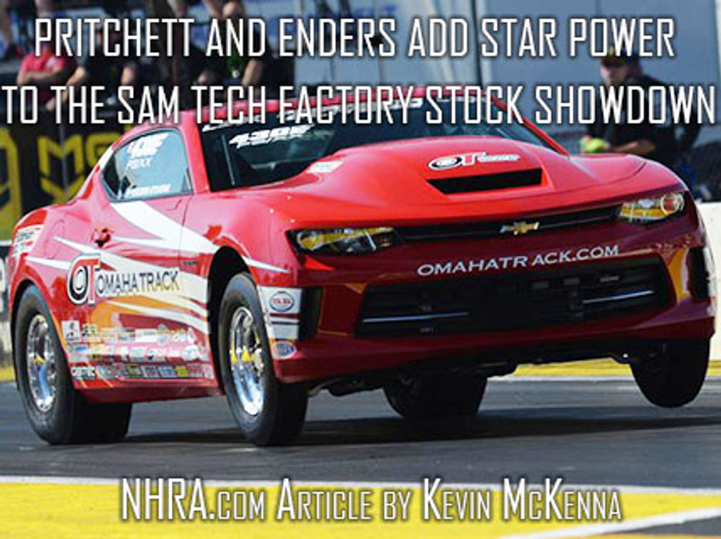 Pritchett and Enders add star power to the SAM Tech Factory Stock Showdown