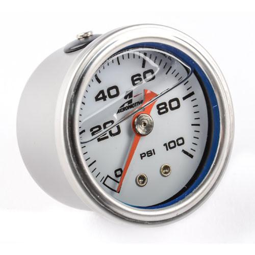 Aeromotive Fuel Pressure Gauge, 0-100 psi 1/8 NPT 1.5 Dia 15633