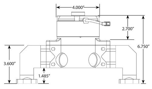 CVR BBC Billet Water Pump 8554 diagram