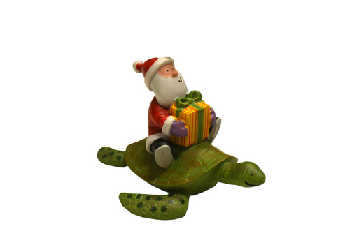 Join in all the sea turtle games with this Santa ornament. Give this sea turtle ornament to the person you turtle-y love or hang it on your tree as a reminder of your favorite sea turtle rescue center. Remind yourself of warmer days with this tropical Santa.