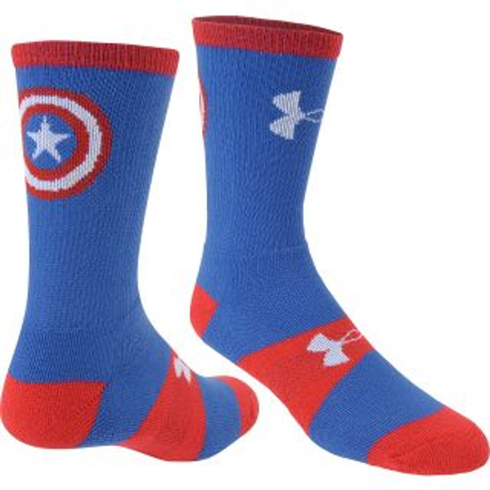 UA Youth Heat Gear Performance Sock, Captain America