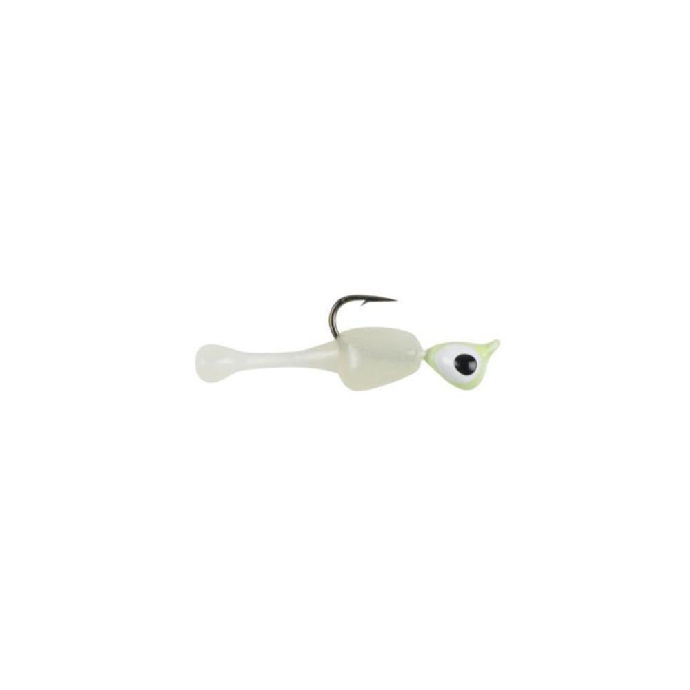 """Powerbait Atomic Dogbone, 3/4"""", 1/32 oz In White Glow"""
