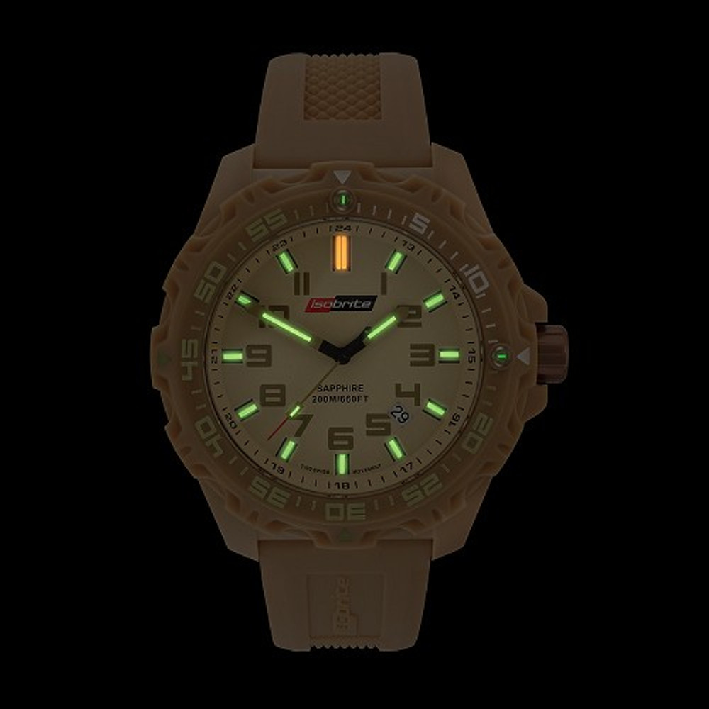 Isobrite Valor Series - Tan Dial - Illumination: Swiss-Made T100 tritium markers