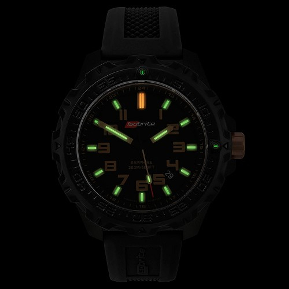 Isobrite Valor Series - T100 Dial - Illumination: Swiss-Made T100 tritium markers