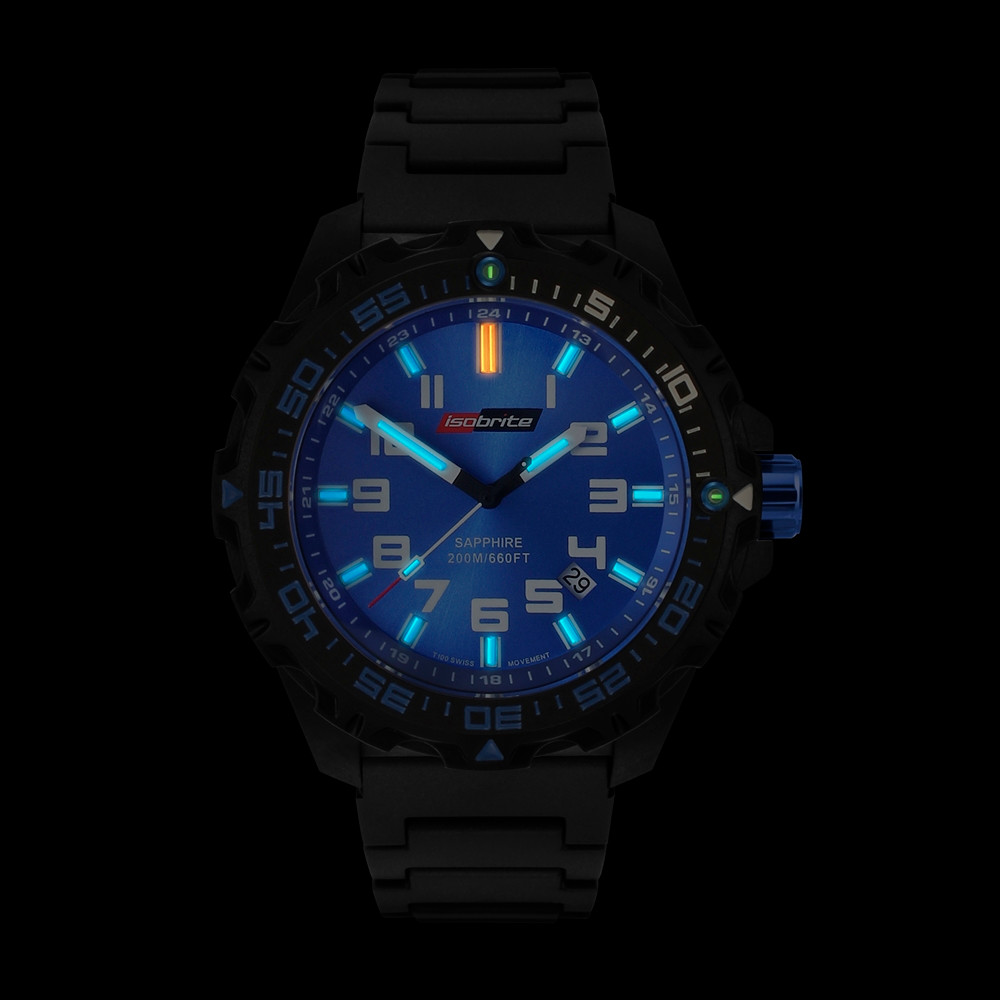 Isobrite Valor Series - Blue Dial - Illumination: Swiss-Made T100 tritium markers