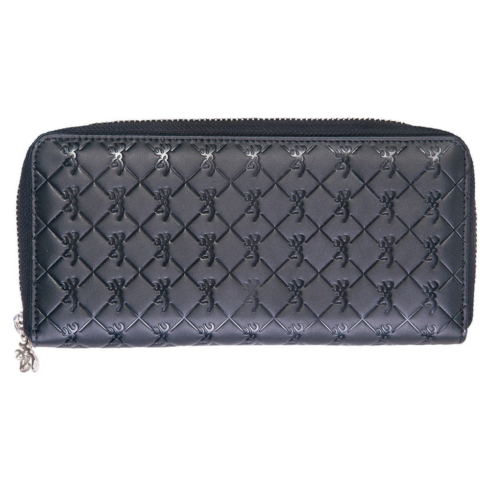 Browning Women's Black Quilted Leather Wallet
