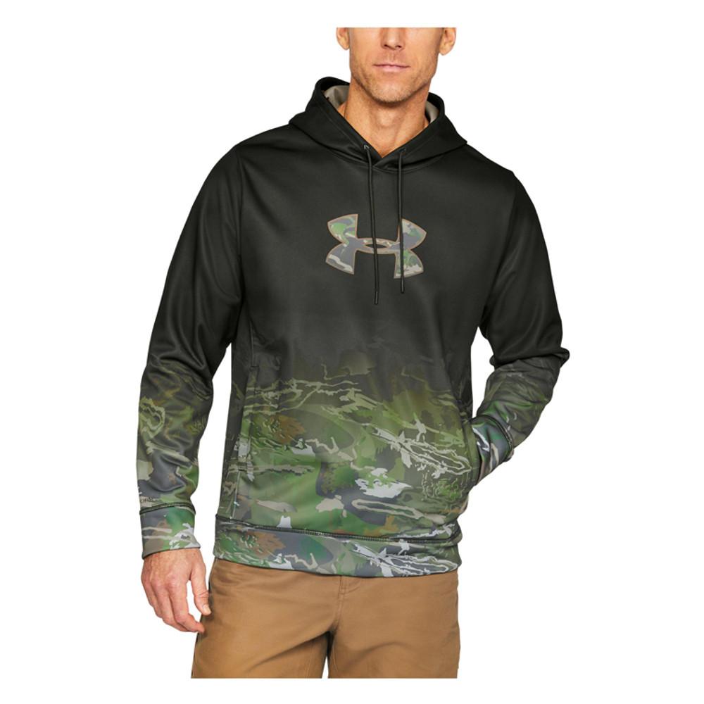 UA Men's Faded Caliber Hoodie In Artillery Green / Ridge Reaper